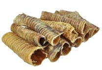 """Premium 3"""" and 6"""" Beef Trachea Dog Chews, Great Source of Glucosamine, 100% Natural Long-Lasting Treats for Small, Medium, and Large Dogs"""