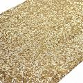 TRLYC Sequin Table Runner, 12 by 90-Inch Sequin Tablecloths, Gold