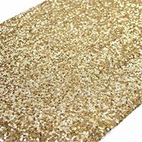 TRLYC Sequin Table Runner, 12 by 132-Inch Sequin Tablecloths, Gold