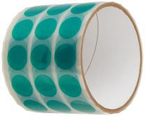 "3M 8992 Green Polyester Film Tape, 0.375"" Diameter Circles (Pack of 250)"