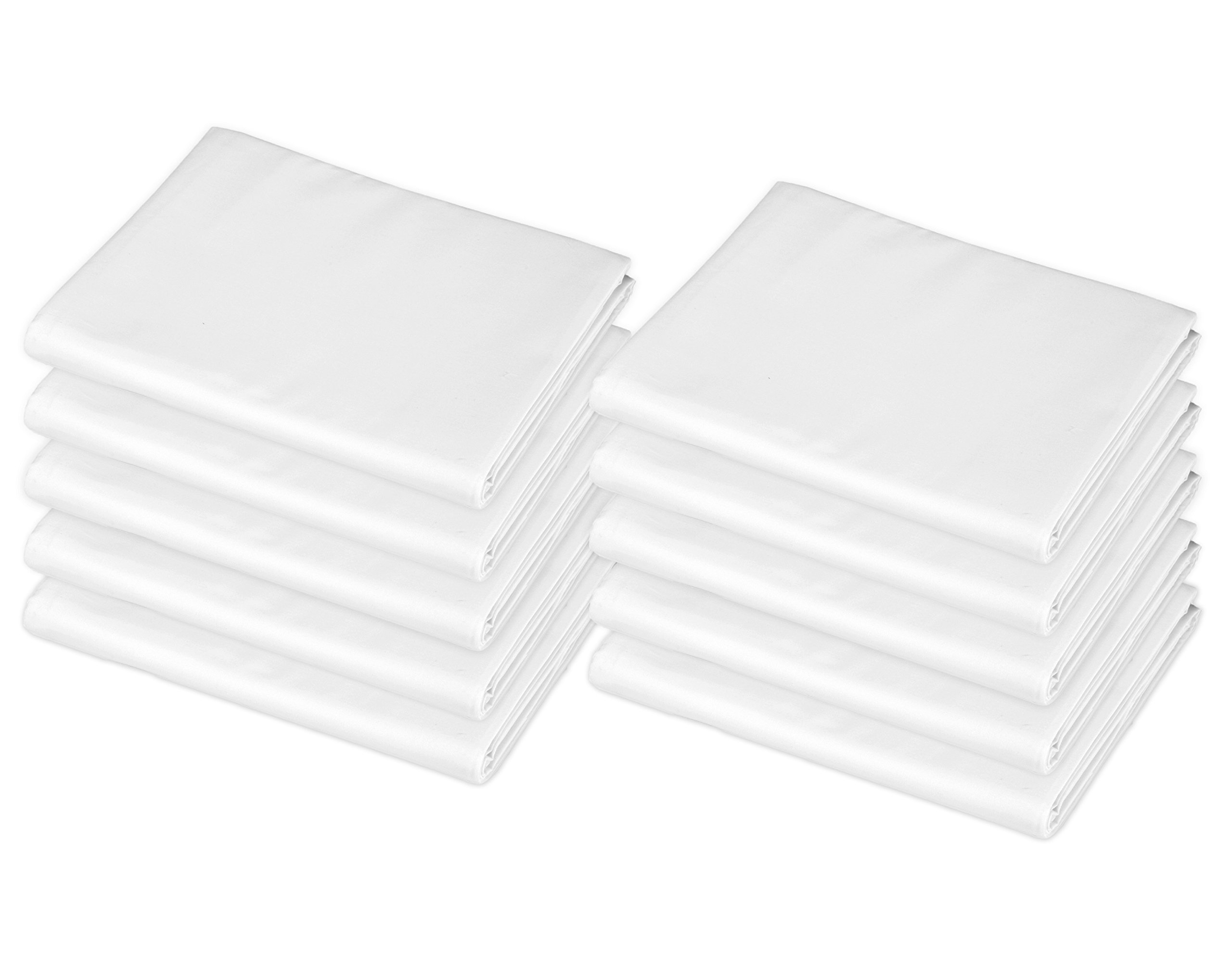 """American Baby Company 10-Piece 100% Cotton Percale Fitted with Elastic Corners Day Care Mat Sheet, White, 24"""" x 48"""" x 4"""""""