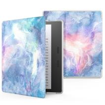 MoKo Case Fits All-New Kindle Oasis (9th and 10th Generation ONLY, 2017 and 2019 Release), Premium Ultra Lightweight Shell Cover with Auto Wake/Sleep - Dreamy Nebula