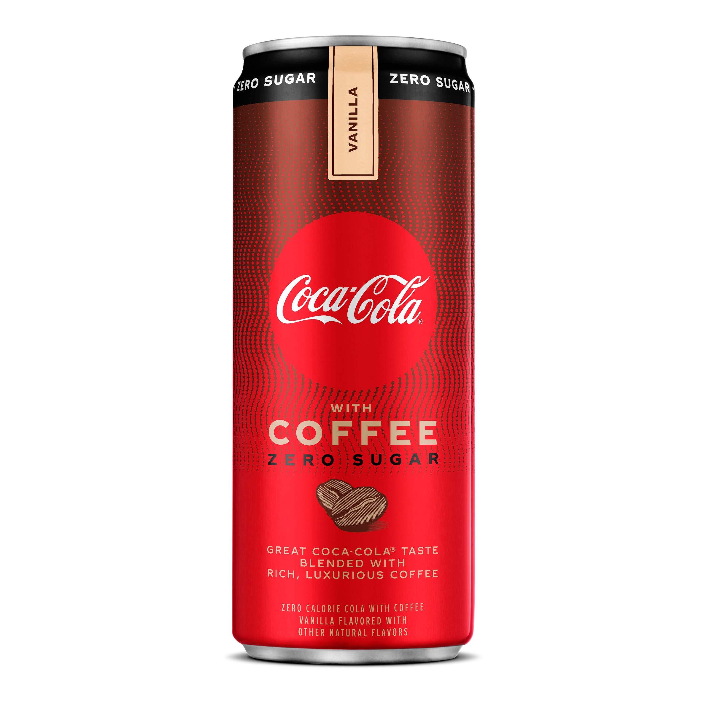 Coke with Coffee Vanilla Zero Sugar, 12 Fl Oz