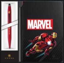 Cross Tech2 Marvel Iron Man Ballpoint Pen with Stylus & Journal Gift Set (AT0652SD-11/1)
