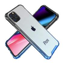 BAISRKE iPhone 11 Pro Max Case, Slim Shock Absorption Protective Cases Soft TPU Bumper & Hard Plastic Back Cover for iPhone 11 Pro Max 2019 [6.5 inch] - Black Blue Gradient