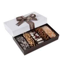 Barnett's Gourmet Chocolate Biscotti Favors Gift Box Sample, Christmas Holiday Cookie Gifts, Unique Corporate Gift Basket Valentines Mothers Fathers Day Baskets Thanksgiving Birthday Get Well Idea