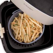 Air Fryer Silicone Pot - Replacement of Parchment Paper Liners - No More Cleaning Basket After Using the Air fryer - Food Safe Air fryers Oven Accessories - Fit All OT (XL - 8.7 inch)