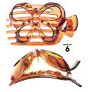 RC ROCHE ORNAMENT 6 Pcs Womens Hair Butterfly Cute Design Grip Side Slide Wide Teeth Strong Hold Durable Stylish Girls Fashion Accessory Premium Claw Clamp Jaw Clip, Large Brown