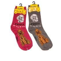 Foozys Unisex Crew Socks | Canine Large & Medium Dog Breed Novelty Sock (2 Pair)