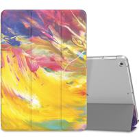 """MoKo Case Fit 2018/2017 iPad 9.7 6th/5th Generation - Slim Lightweight Smart Shell Stand Cover with Translucent Frosted Back Protector Fit iPad 9.7"""" 2018/2017ONLY, Painted Sky(Auto Wake/Sleep)"""