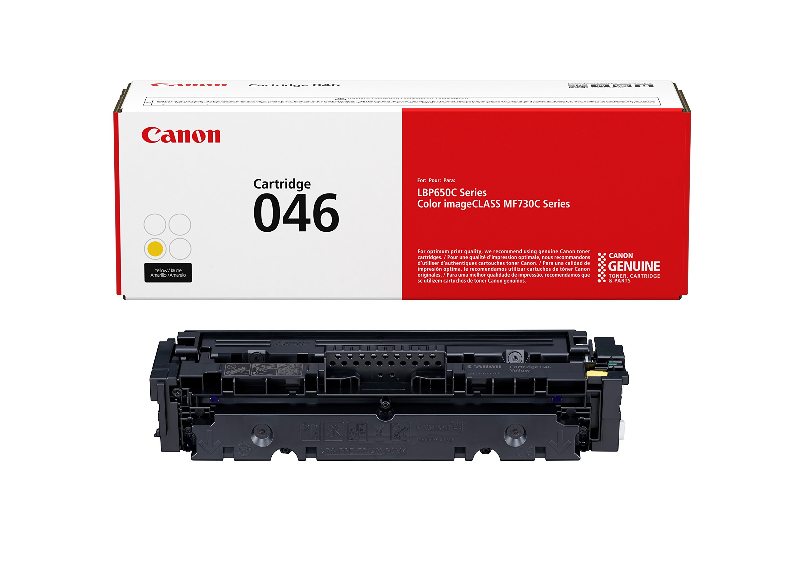 Canon Genuine Toner, Cartridge 046 Yellow (1247C001), 1 Pack, for Canon Color imageCLASS MF735Cdw, MF733Cdw, MF731Cdw, LBP654Cdw Laser Printers