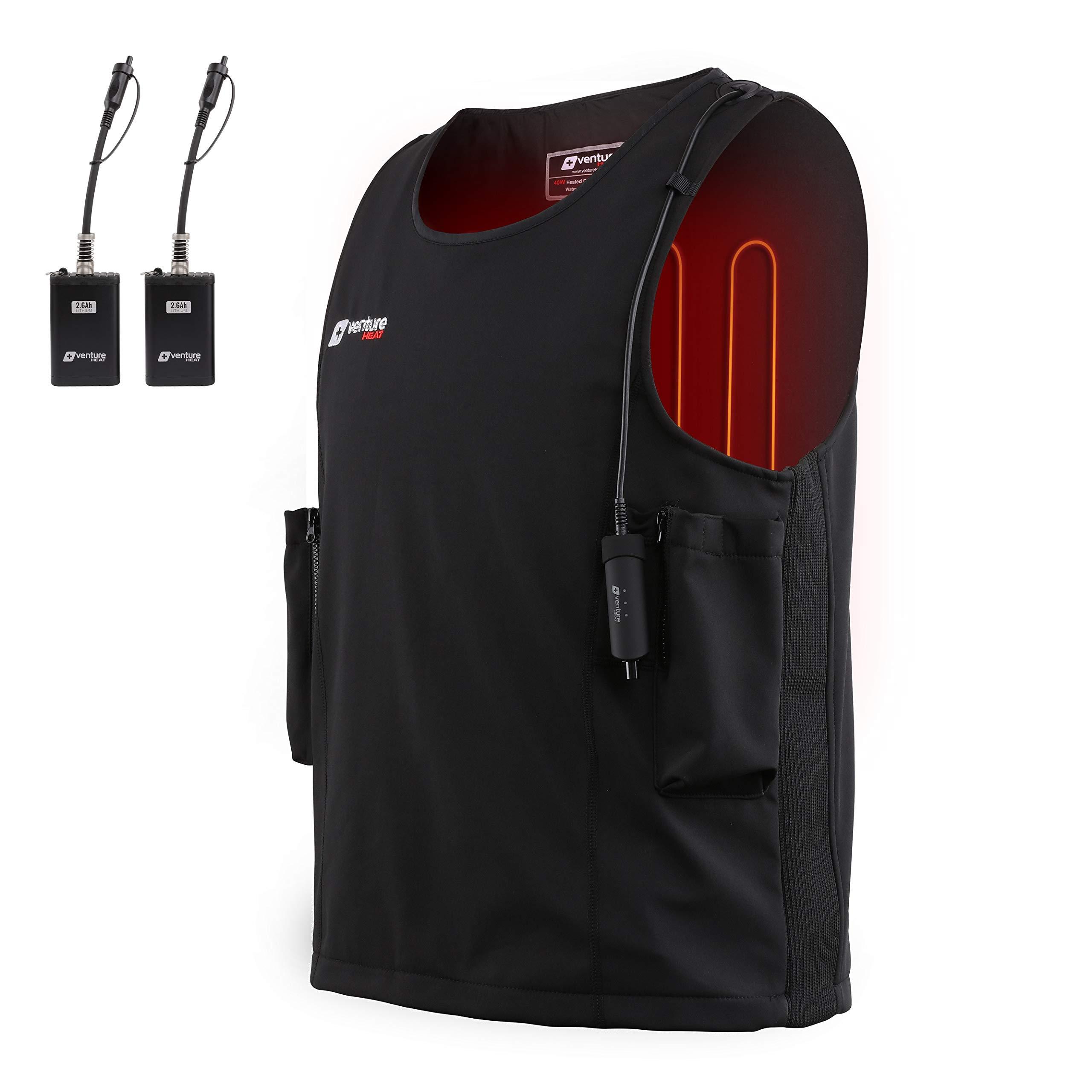 Venture Heat Waterproof Battery Heated Vest, 20W Diving Wet Suit - Surfing, Snorkling Gear, Kayaking, Sailing