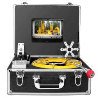 Pipe Camera,IHBUDS Sewer Camera 30M/100ft Cable Pipe Inspection Camera with DVR Recorder Video System 7 Inch TFT LCD Monitor 1000TVL Sony CCD Plumbing Camera Industrial Endoscope (30M-with DVR)
