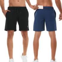 """TELALEO Men's 7"""" Workout Running Shorts Zipper Phone Pocket Athletic Training Gym"""