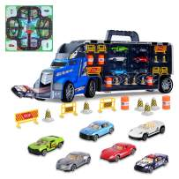 Aokesi Transport Car Carrier Truck Toy - Mini Car and Play Vehicle Set for Kids, Best Gift for Boys Girls Age of 3-12 Year Old