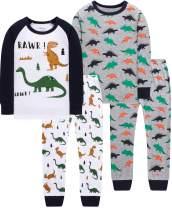 shelry Truck Boys Pajamas Toddler Sleepwear Clothes T Shirt Pants Set Kids Size 2Y-7Y