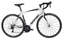 Tommaso Forcella Endurance Aluminum Road Bike, Carbon Fork, Shimano Claris R2000, 24 Speeds, Aero Wheels, Matte Black, Matte White
