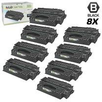 LD Compatible Toner Cartridge Replacement for HP 49X Q5949X High Yield (Black, 8-Pack)
