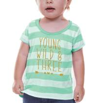 Bump and Beyond Designs Girl 3rd Birthday Shirt Three Year Old Birthday Girl Outfit Green