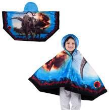 "Franco Kids Bedding Super Soft and Cozy Snuggle Wrap Hoodie Blanket, 55"" x 31"", Jurassic World"