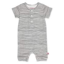 Zutano Organic Henley Bodysuit, Pencil Stripe, 9M