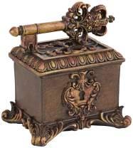 "Kensington Hill Segreto 7 1/2"" Wide Copper Bronze Royal Key Decorative Box"