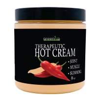 GreenIVe - Hot Cream - Anti Cellulite Cream - Hot & Cold Sensation - Exclusively on Amazon (8 Ounce Jar)