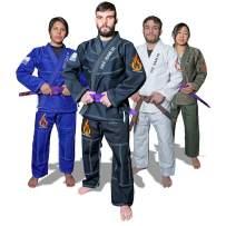 Fire Team Fit BJJ Gi, Jiu Jitsu Gi, Mens and Womens Kimono, Preshrunk, Brazilian Jiu Jitsu Gi with Free White Belt