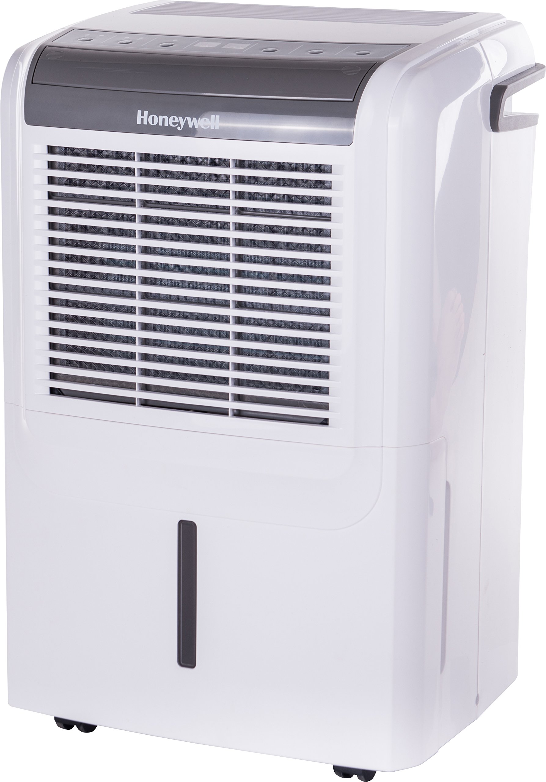 Honeywell DH50W 50 pint Energy Star Dehumidifier for Basement & Rooms up To 3000 Sq ft with Washable Air Filter to Remove Odor, Anti-Spill Design & Continuous Drain