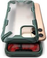 Ringke Fusion X No-Smudge Matte Case Made for iPhone 11 Pro Max, Anti Glare Fingerprint Resistant Translucent Case for iPhone 11 Pro Max (2019) - Dark Green