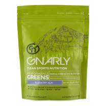 Gnarly Nutrition, Performance Greens Superfood Powder to Support Performance and Recovery, Blueberry Acai, 11.64 Oz (30 Servings)