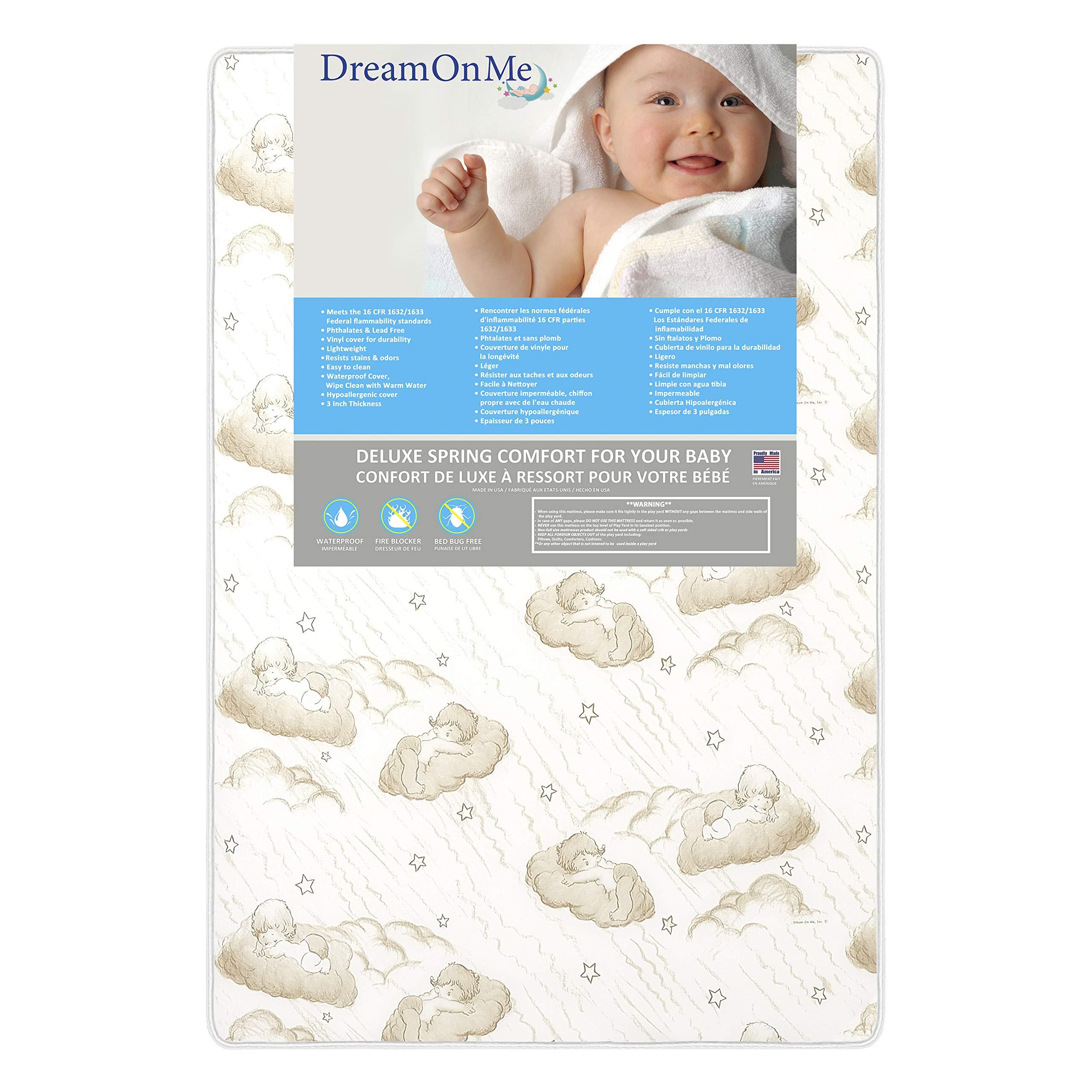 "Dream On Me 3"" Spring Coil Mini / Portable Crib Mattress, (Model: 23)"