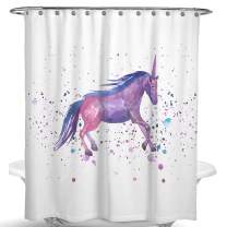 Dimaka Shower Curtain for Girls and Kids,Cute Cartoon Unicorn Print Decoration Design Decor Water Proof Resistant Eco Friendly Bathroom Fabric Shower Curtain (Unicorn)