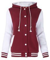 Kate Kasin Unisex Women's Varsity Baseball Hoodie Jacket Outerwear Bomber Coat