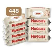 Huggies Nourish & Care Baby Wipes, 8 Flip-Top Packs, 56 Count Each