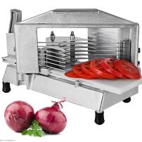 Happybuy Commercial Tomato Slicer 0.38 inches Heavy Duty Tomato Slicer Tomato Cutter with Built in Cutting Board for Restaurant or Home Use