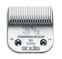 Andis 63040 CeramicEdge Carbon-Infused Steel Clipper Blade, Size 3-1/2, 3/8-Inch Cut Length