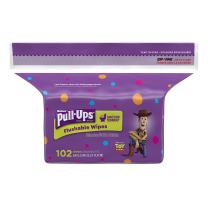 Huggies Pull-Ups Flushable Moist Wipes Refill, 102 Count (Pack of 8) (Packaging May Vary)