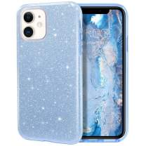 MILPROX iPhone 11 Case, Bling Sparkly Glitter Luxury Shiny Sparker Shell, Protective 3 Layer Hybrid Anti-Slick Slim Soft Cover for iPhone 11 6.1 inch (2019)-Blue
