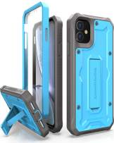 ArmadilloTek Vanguard Designed for iPhone 11 Case (6.1 inches) Military Grade Full-Body Rugged with Kickstand and Built-in Screen Protector - Blue