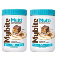 Mybite Chocolate Multivitamin, 60 Bites (30 Count, Pack of 2), Vitamins A, B6, B12, C, D, E, Folate, Delicious Supplement with Immune Support for The Whole Family
