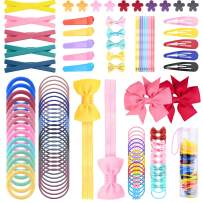 190 Pieces Hair Accessories for Baby Girl - Hair Clips, Headbands, Elastics Hair Ties, Claw Clips, Hair Pins, Gift Box for Newborns Infants Toddlers Kids