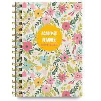 June 2019 - July 2020 Pasten Floral Soft Cover Academic Year Day Planner Calendar Book by Bright Day, Weekly Monthly Dated Agenda Spiral Bound Organizer, 6.25 x 8.25 Inch,