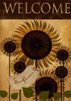 Toland Home Garden Folk Sunflower 28 x 40 Inch Decorative Americana Fall Autumn Welcome Flower Double Sided House Flag