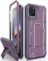 ArmadilloTek Vanguard Case Designed for iPhone 11 Pro Max (6.5 inches) Military Grade Full-Body Rugged with Kickstand and Built-in Screen Protector - Purple