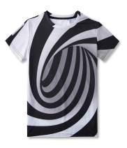 UNICOMIDEA Kids Boys Girls T-Shirts Crewneck Tees Graphic Short Shirts for 6-16 Years Old