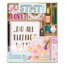 STMT 90824  DIY Journaling Set by Horizon Group USA, Personalize & Decorate Your Planner/Organizer/Diary with Stickers, Glitter Frames, Magnetic Bookmarks, Tassel Keychain & More. Pen Included