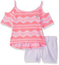 U.S. Polo Assn. Baby Girl's Fashion Top and Short Set Shorts