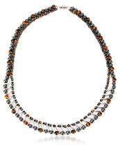 Elegant Womens Hematite Magnetic Therapy Necklace with Healing Stones Pain Relief for Neck Arthritis Migraine Headaches Shoulders and Back (Regular, Tiger Eye)