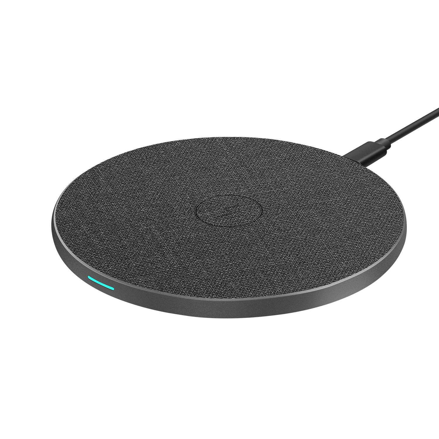 WisFox Wireless Charger Qi-Certified 10W Max Fast Universal Wireless Charging for iPhone 11/11 Pro/11 Pro Max/XS MAX/XR/XS/8 Plus, Galaxy Note 10/Note 10 Plus/S10/S10 Plus/S10E(No AC Adapter) (Black)